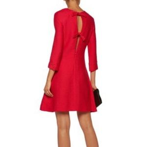 NWT Maje Bow Detailed Textured Crepe Mini Dress